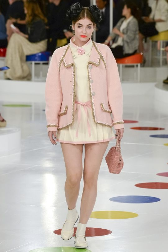 """These are the colours you'll be wearing in 2016: Rose Quartz (jacket) """"This really is a beautiful pink that will radiate well on the skin for women as well as men. Women can always be helped along by cosmetics, but guys have to rely on the colours they're wearing to sometimes make them look a little healthier."""" Image: Chanel"""