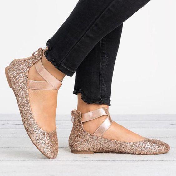 Women Plus Size Flats Ballerina Shoes