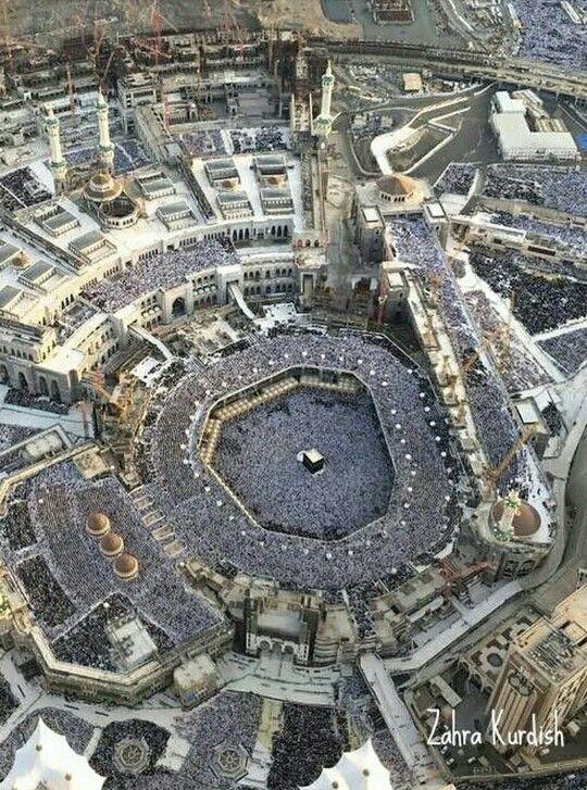 منظر جوي للكعبه المشرفة Photo Masjid Al Haram Islamic Wallpaper