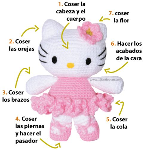 amigurumi hello kitty bailarina - hello kitty ballet dancer