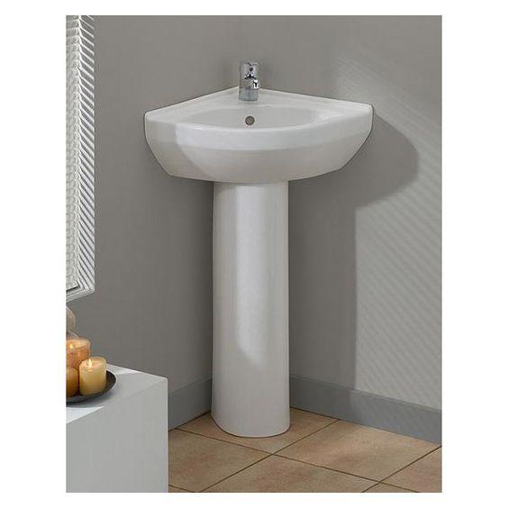 Cheviot Petite Corner Pedestal Sink Home Stuff Pinterest Pedestal Corner Pedestal Sink