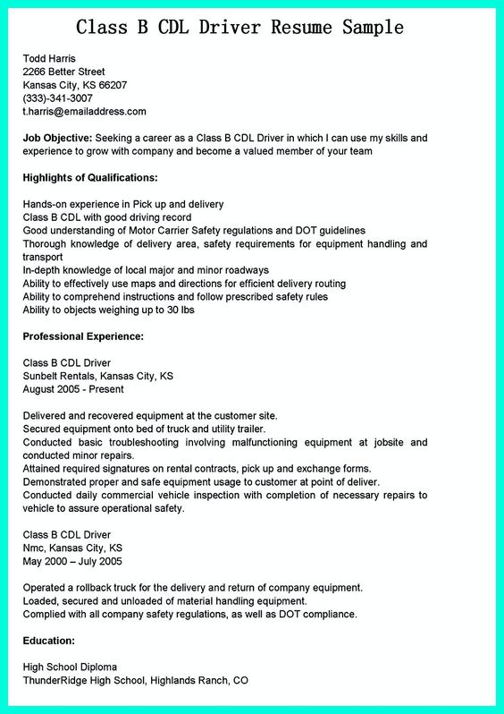 nice How Construction Laborer Resume Must Be Rightly Written - cdl driver resume