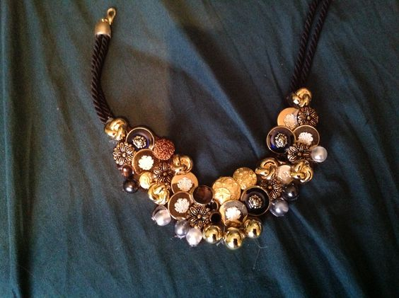 Diy necklace with buttons . Pretty Impressed of myself