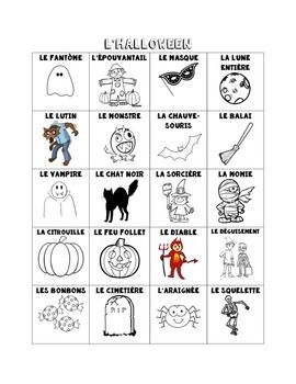 french halloween vocabulary. Black Bedroom Furniture Sets. Home Design Ideas