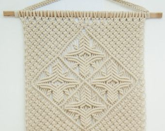 Macrame wall hanging macrame curtain bohemian by TheWovenDream