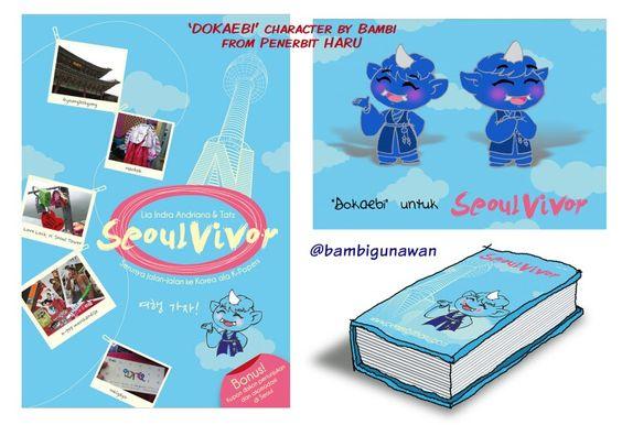 Nostalgia, pertama kali bantuin #penerbitharu bikin karakter #dokaebi (setan ala Korea) untuk buku perjalanan ke Seoul, Korea December 2011 karya #liaindraandriana dan #tatz .trus merchandise-nya magnet kulkas sperti dalam sketsa ini. #seoulvivor #unyu_korea #Unyu2 #karakterunyu #karyamasbambi #characterdesign #novel