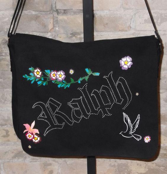 Ralph Lauren Black Floral Canvas Messenger Bag New #RalphLauren #MessengerCrossBody