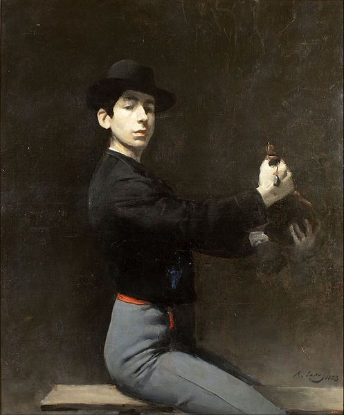 'Self-portrait' by Ramon Casas , (born 4 January 1866 – 29 February 1932) was a Catalan Spanish artist.