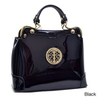 Dasein Faux Patent Emblem Purse | Overstock.com Shopping - Great Deals on Dasein Shoulder Bags