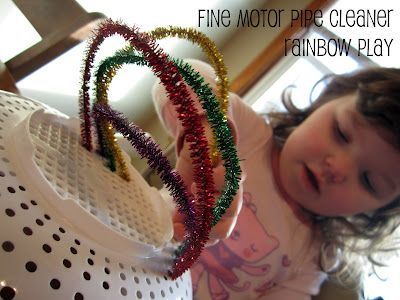pipe cleaner rainbow play