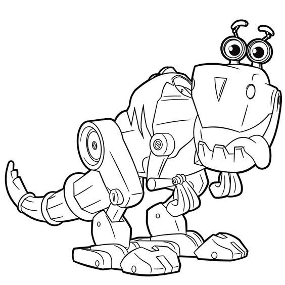 Robot Dinosaur Coloring Pages With Images Dinosaur Coloring
