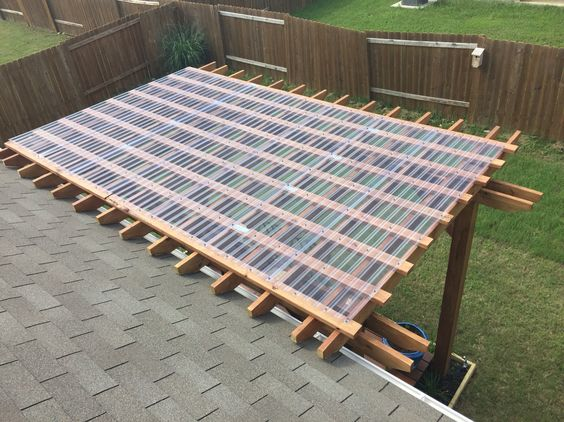 pergola with clear roof pergalo pinterest the roof