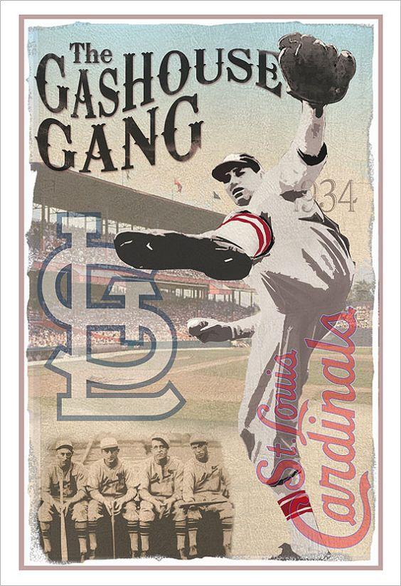 St Louis Cardinals Gashouse Gang Print 13 Quot X19 Quot Or 24