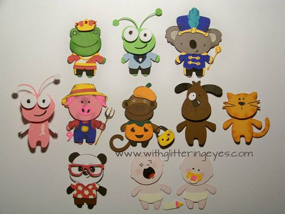 Make tons of different animals, babies, even the Cricut Bug able to wear the outfits on Teddy Bear Parade using the directions on this blog post!  Withglitteringeyes.com