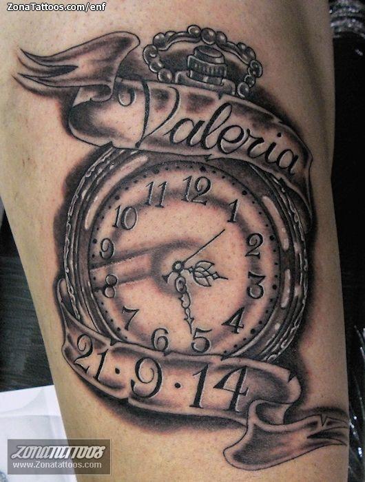 Tatuaje De Relojes Valeria Nombres Zonatattoos Com Tatuajes De Relojes Reloj Para Tatuar Tatuajes De Nombres