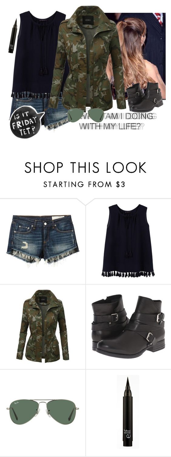"""""""Is it Friday yet?#403"""" by tkcostner ❤ liked on Polyvore featuring rag & bone/JEAN, MANGO, LE3NO, Summit by White Mountain and Ray-Ban"""