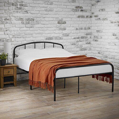 Bettgestell Smallwood Loftdesigns Farbe Schwarz Grosse 135 X 190 Cm Altes Bettgestell