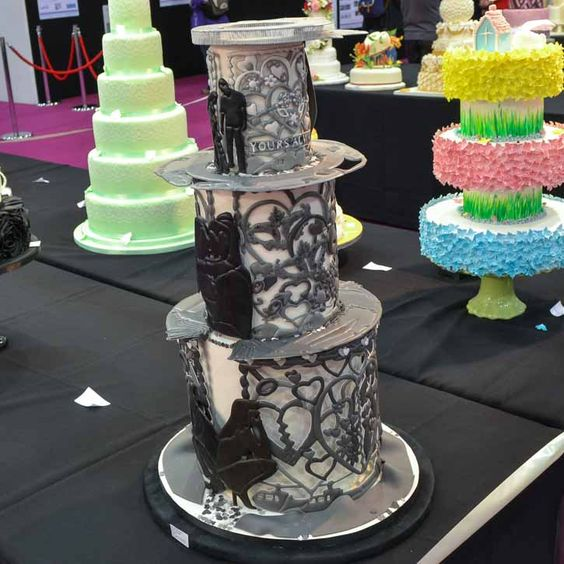Cake competition, Wedding cakes and Cakes on Pinterest