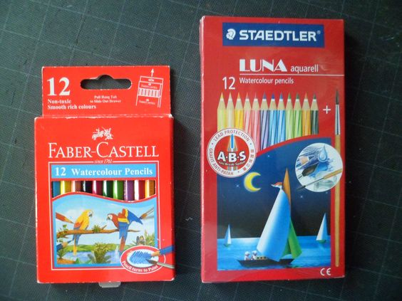 I use these  water based  colorpencils to paint my sketches when  outdoors. color  rendition is great and  are  very portable.