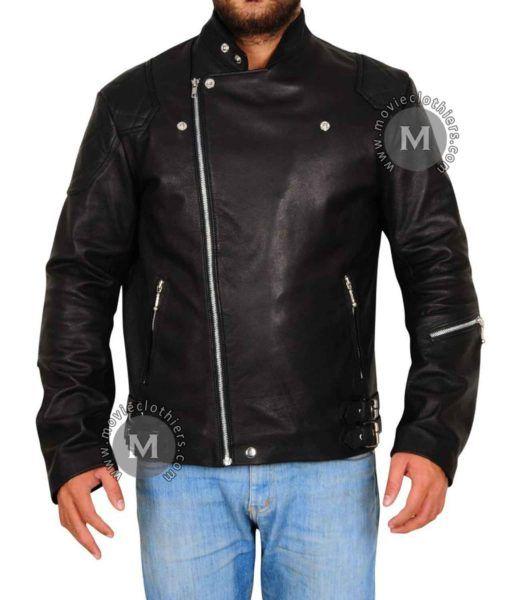Venom Snake Msg V Leather Jacket Leather Jacket Black