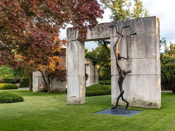 Tree museum-Enea Garden, Upper Lake Zurich, Switzerland.  75,000 sq.m. by Swiss landscape artist and prominent tree collector.