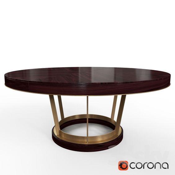 3d models: Table - DELANEY DINING TABLE