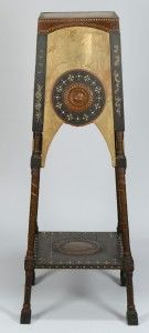 Lot 583: Italian Carlo Bugatti Plant Stand - Image 2 - to bid online, visit our catalog at http://www.liveauctioneers.com/catalog/49503_winter-fine-art-and-antiques-auction/page30?rows=20