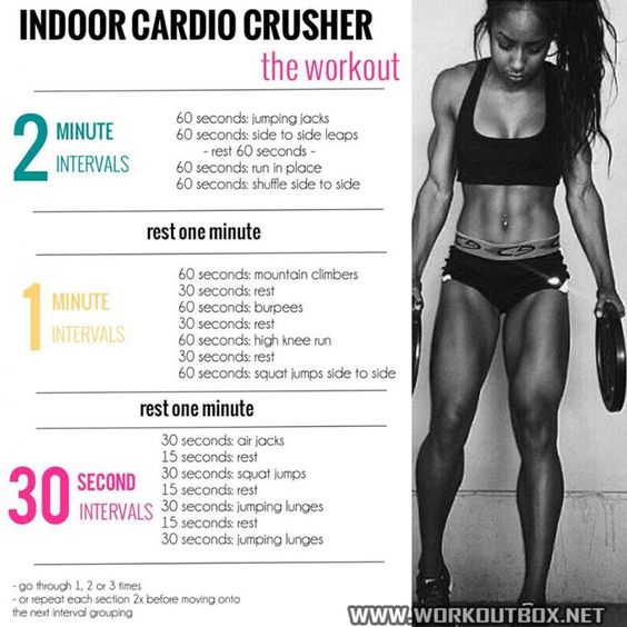 Indoor Cardio Crusher The Workout - Healthy Fitness Training 123:
