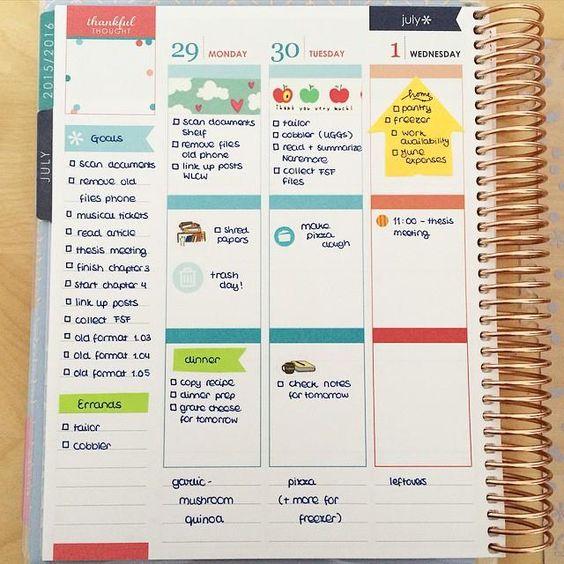 Cute and simple Erin Condren Life Planner spread. @erincondren