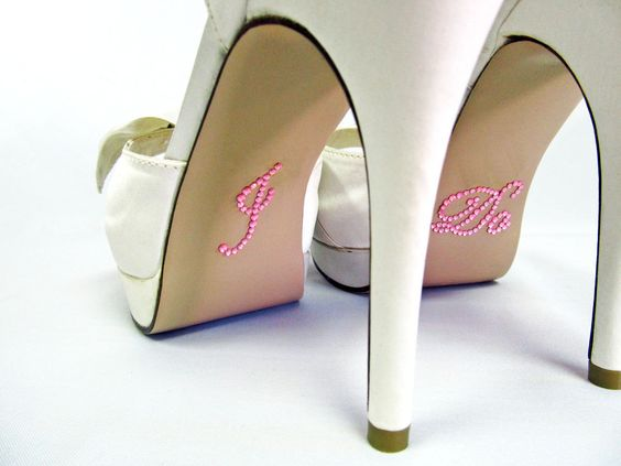 I Do Shoe Stickers by OurHeavenlyHangers on Etsy, $5.00