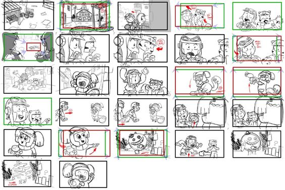 robot storyboard part 1 - two robots fighting each other CGR105 - interactive storyboards