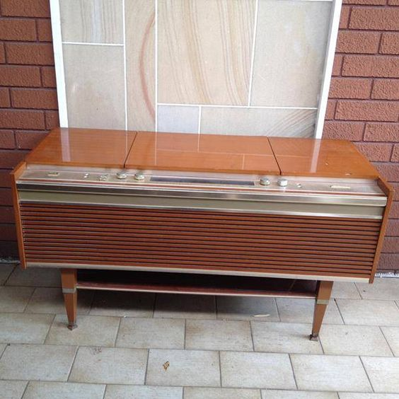 Vintage Retro HMV Rhapsody Built In Record Player Radio Sideboard Collectables Pinterest