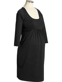Maternity Ponte-Knit Empire-Waist Dresses | Old Navy