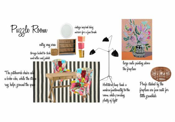 Check out this moodboard created on @olioboard: Diane's Puzzle Room by domesticjunkie