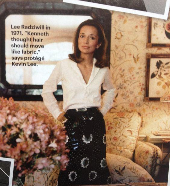 Lee Radziwill - love the fabric + wallpaper.