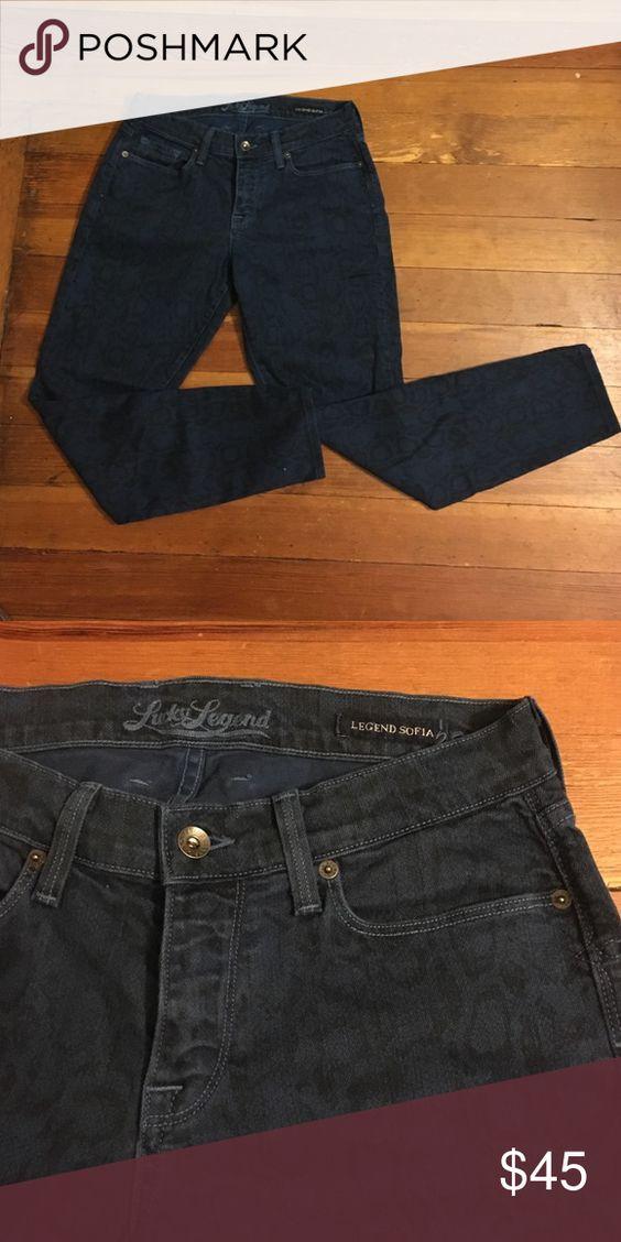 Lucky Jeans Legend Sofia Snake pattern Lucky Brand Blue Jeans Lucky Brand Jeans Skinny