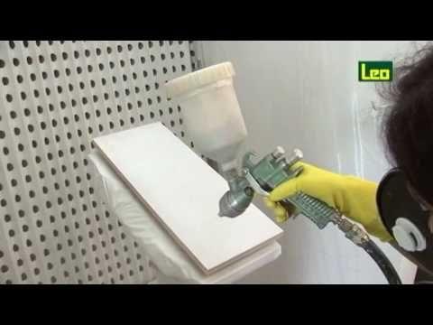 Laca Nitro Brilhante Branca, aplicada em MDF