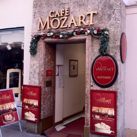 Hohensalzburg, Salzburg, Austria — by Khalaf AlHameli. Mozart Café