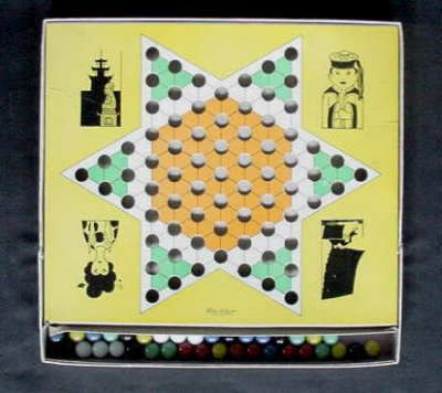 1938 CHINESE CHECKERS GAME TOY PARKER BROTHERS Orig Box Marbles & Instructions