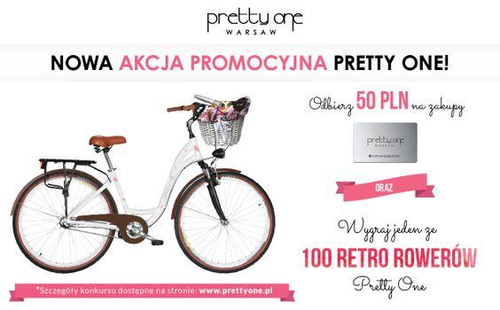 """W salonie Pretty One w naszej Galerii ruszył wyjątkowy konkurs : """"Wygraj jeden ze 100 retro rowerów!"""". Konkurs został stworzony dla wszystkich kobiet, które zwracają uwagę na detale, lubią się wyróżniać z tłumu i kochają rowery. Szczegóły konkursu dostępne są salonie oraz na naszej stronie www: http://www.prettyone.pl/aktualnosci/105-wygraj-retro-rower"""