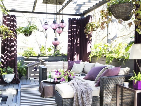 We're ready for spring! Why not dress up your outdoor space with orchid accents? (http://blog.hgtv.com/design/2014/03/05/radiant-orchid-color-of-the-year-2014/?soc=Pinterest):