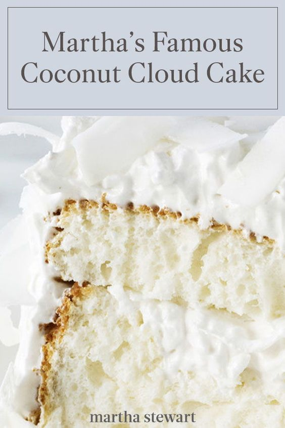 Martha Stewart's Famous Recipe for Coconut Cloud Cake