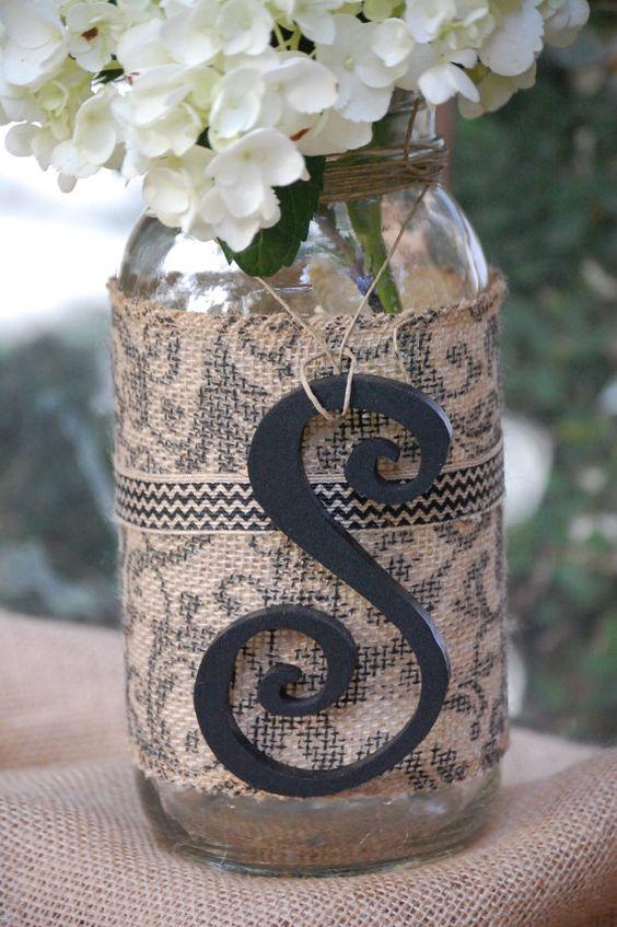 tables home decor friend gifts home masons burlap decor hanging jars