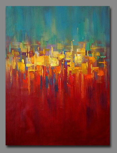 """40""""x30"""" Contemporary Original Handmade Abstract art Oil Paintings on canvas"""