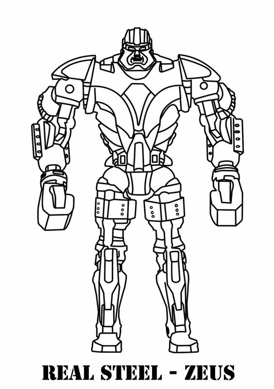 Real Steel  Coloring Pages For Kids And Coloring Pages On