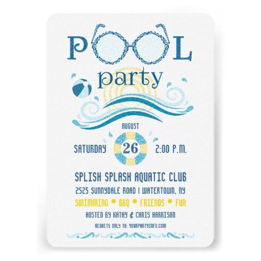 Pool Party Invitationzazzlepoolpartyinvitation – Zazzle Party Invitations