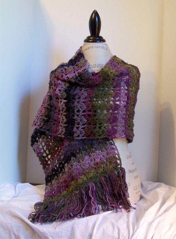 Ravelry Free Crochet Shawl Patterns : Marcia Shawl By Kristina Olson - Free Crochet Pattern ...