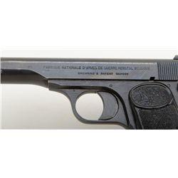 "FN Browning Model 1922 semi-auto pistol, 7.65mm cal., 4-1/2"" barrel, blue finish, checkered hard r"