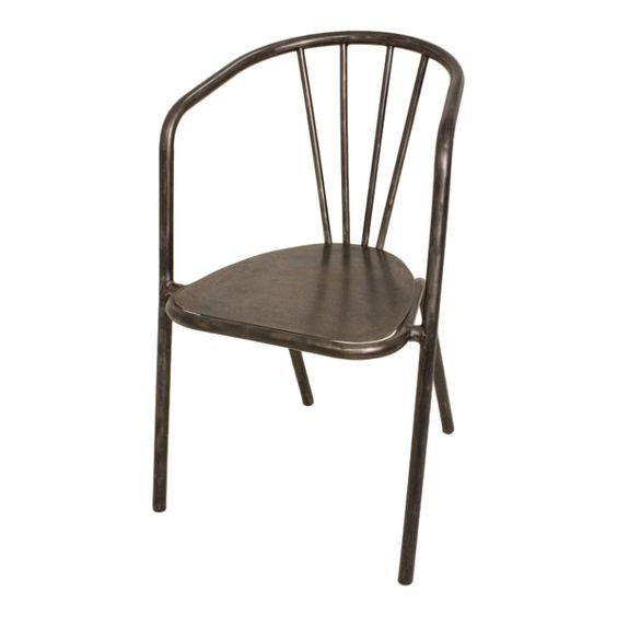 Vintage French Industrial Steel Armchairs  France  1930's