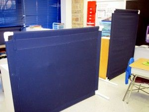 A tutorial on how to create your own fabric wall dividers for Pvc pipe classroom dividers